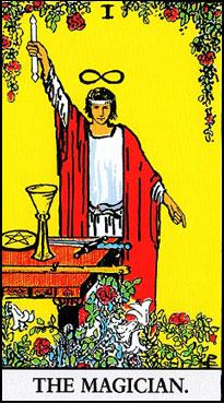 タロット占い|1.The Magician/魔術師の正位置と逆位置の意味