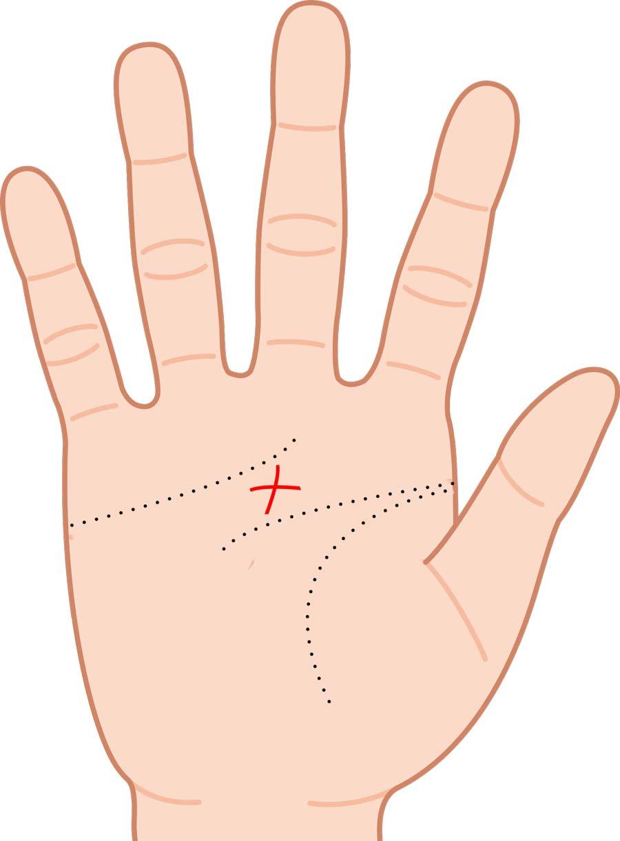 手相|神秘十字線は珍しいけど良い手相!位置や意味をまとめ